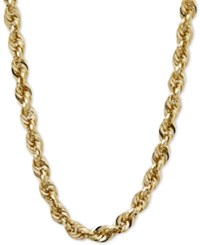 Macy's Glitter Rope Necklace In 14K Gold Yellow Gold