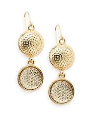 Carol Dauplaise Day Glow Sparkly Double Drop Earrings