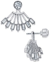 Inc International Concepts Crystal Fan Earring Jackets Only At Macy's Silver