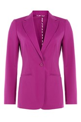 Etro Tailored Cotton Blend Blazer Purple