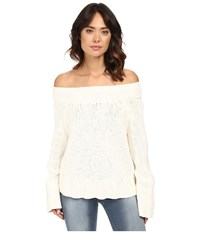 Free People Beachy Slouch Pullover Ivory Women's Sweater White