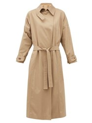 Preen By Thornton Bregazzi Savannah Twill Trench Coat Beige Multi