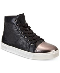 Guess Boden Gold Toe High Top Sneakers Men's Shoes Black