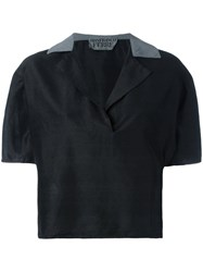 Gianfranco Ferre Vintage Cropped Shirt Black