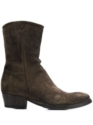 Pantanetti Cowboy Style Boots Brown