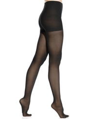 Dkny Comfort Luxe Semi Opaque Control Top Tights Black