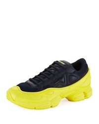 Raf Simons Ozweego Dipped Color Trainer Sneakers Blue Yellow Blue Yellow