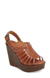Very Volatile Women's Prolific Wedge Sandal Tan Leather