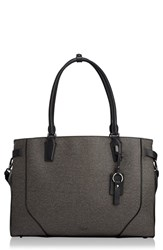 Tumi Stanton Rosalind Leather Business Tote Grey Earl Grey