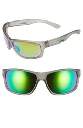 Men's Revo 'Baseliner' 61Mm Polarized Sunglasses Crystal Grey Green Water