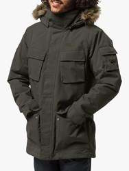 Jack Wolfskin Glacier Canyon Insulated 'S Waterproof Parka Dark Moss