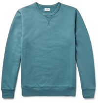 Hartford Loopback Cotton Jersey Sweatshirt Jade
