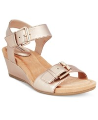 Giani Bernini Bryana Wedge Sandals Only At Macy's Women's Shoes Gold