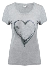 Saint Tropez Print Tshirt Grey Mottled Grey