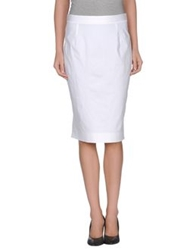 Gai Mattiolo Knee Length Skirts White