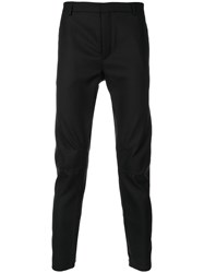 Lanvin Ruched Detailed Trousers Cotton Wool Black