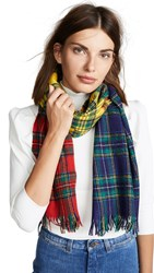 Franco Ferrari Tartan Scarf Red Multi