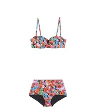 Dolce And Gabbana Printed High Waist Bikini Multicoloured