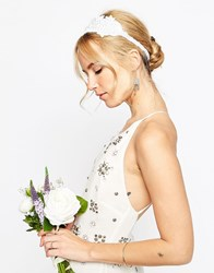 Asos Wedding Beaded Flower Headband White