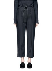 3.1 Phillip Lim Origami Pleat Tie Waist Cropped Pants Black