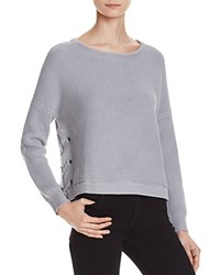 Eleven Paris Tara Rib Sweater 100 Bloomingdale's Exclusive Heather Grey