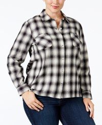Styleandco. Style Co. Plus Size Mixed Print Plaid Shirt Only At Macy's Passion Patchwork
