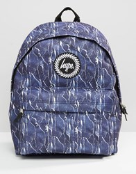 Hype Backpack Cracked Black