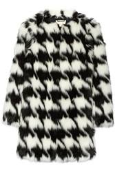 Michael Michael Kors Faux Fur Coat White