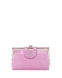 Hobo Alice Leather Fold Over Wallet Lilac
