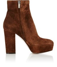 Gianvito Rossi Women's Temple Platform Ankle Boots Brown