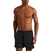 Solid And Striped The Classic Pinstriped Swim Trunks Black