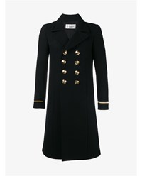 Saint Laurent Wool Blend 70S Military Coat Black