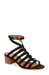 Sarto By Franco Sarto Women's Finesse Cage Sandal Black Suede