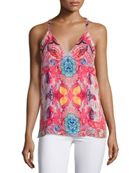 Haute Hippie The Cowl Printed Silk Camisole Love Her Madly