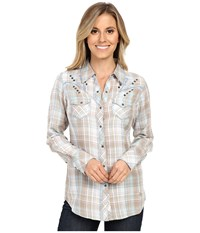 Ariat Nichols Snap Shirt Satellite Women's Long Sleeve Button Up Blue