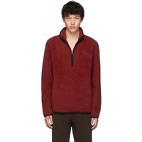 The North Face Red Sherpa Dunraven 1 4 Sweatshirt