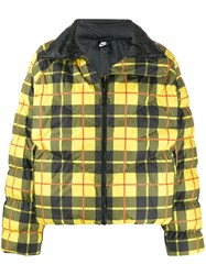 Nike Checked Padded Jacket Yellow