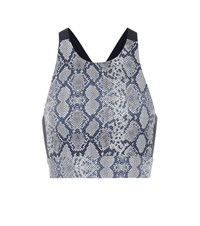 Varley Sherman Printed Sports Bra Grey
