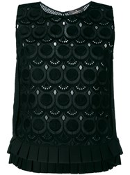 Capucci Embroidered Tank Top Black