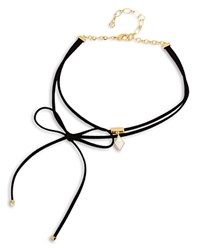 Charm And Chain Star Choker Necklace 12 Black