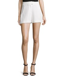 Veronica Beard Tropicana High Waist Tailored Shorts White Women's