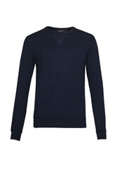 French Connection Men's Winter Linked Rib Jumper Blue