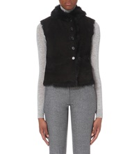 Joseph New Lucy Sheepskin Gilet 010 Black