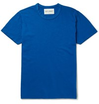 Our Legacy Perfect Cotton Jersey T Shirt Cobalt Blue