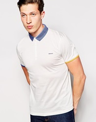 Dkny Short Sleeve Polo Shirt White