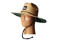 Quiksilver Outsider Hat Glitched Green Gecko Traditional Hats Beige
