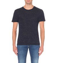 Sandro Crew Neck Jersey T Shirt Navy Blue
