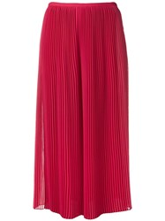 Krizia Flared Cropped Trousers Pink