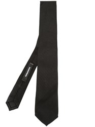 Dsquared2 Embroidered Detail Tie Black