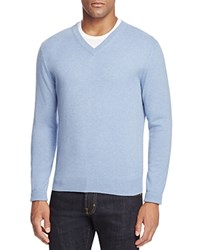 Bloomingdale's The Men's Store At Cashmere V Neck Sweater Light Blue